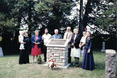 Dedication of plaque at Evergreen Cemetery