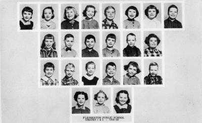 Flesherton Public School Class of 1958-1959