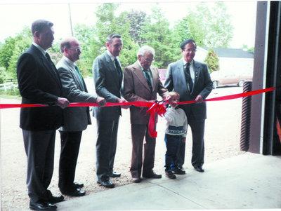 Ribbon Cutting at new Township Shed