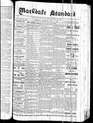 Markdale Standard (Markdale, Ont.1880), 9 May 1889