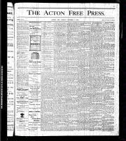 Acton Free Press (Acton, ON), October 1, 1875