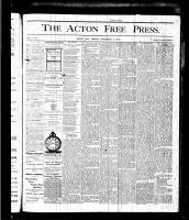 Acton Free Press (Acton, ON), November 5, 1875