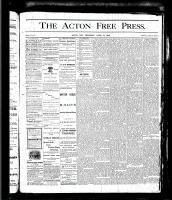 Acton Free Press (Acton, ON), April 13, 1876