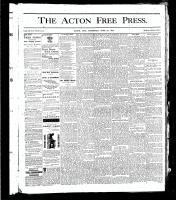 Acton Free Press (Acton, ON), June 27, 1878