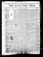 Acton Free Press (Acton, ON), August 15, 1878