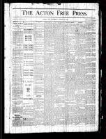 Acton Free Press (Acton, ON), August 29, 1878