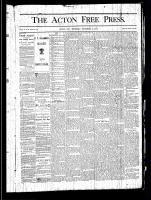 Acton Free Press (Acton, ON), September 19, 1878