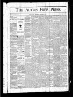Acton Free Press (Acton, ON), October 3, 1878