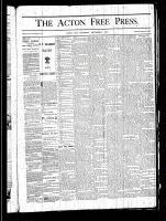 Acton Free Press (Acton, ON), November 7, 1878