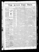 Acton Free Press (Acton, ON), November 14, 1878