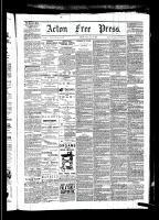 Acton Free Press (Acton, ON)8 Jan 1880