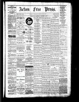 Acton Free Press (Acton, ON), October 13, 1881