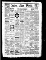 Acton Free Press (Acton, ON), December 1, 1881