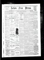 Acton Free Press (Acton, ON), January 4, 1883