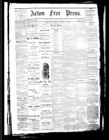 Acton Free Press (Acton, ON), January 11, 1883