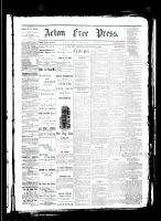 Acton Free Press (Acton, ON), January 18, 1883