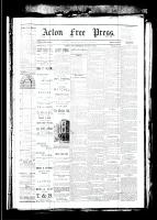 Acton Free Press (Acton, ON), March 8, 1883