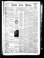 Acton Free Press (Acton, ON), August 9, 1883