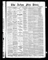 Acton Free Press (Acton, ON)2 Jul 1885