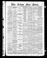 Acton Free Press (Acton, ON), July 9, 1885