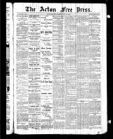 Acton Free Press (Acton, ON), July 30, 1885