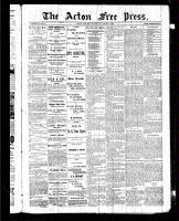 Acton Free Press (Acton, ON)6 Aug 1885