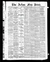 Acton Free Press (Acton, ON), August 13, 1885