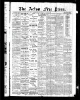 Acton Free Press (Acton, ON), August 20, 1885