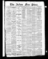 Acton Free Press (Acton, ON), August 27, 1885