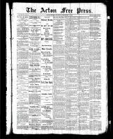Acton Free Press (Acton, ON), September 10, 1885