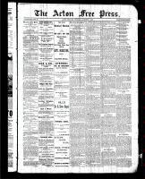 Acton Free Press (Acton, ON), October 1, 1885