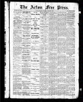 Acton Free Press (Acton, ON), October 8, 1885