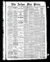 Acton Free Press (Acton, ON), October 15, 1885