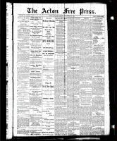 Acton Free Press (Acton, ON), October 29, 1885
