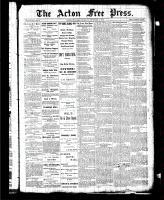 Acton Free Press (Acton, ON), November 5, 1885