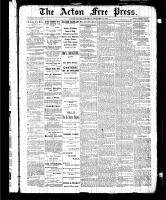 Acton Free Press (Acton, ON), November 12, 1885