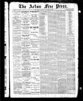 Acton Free Press (Acton, ON), November 19, 1885
