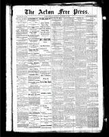 Acton Free Press (Acton, ON), November 26, 1885