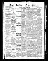 Acton Free Press (Acton, ON)11 Nov 1886