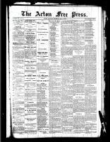 Acton Free Press (Acton, ON)5 May 1887