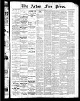 Acton Free Press (Acton, ON), August 25, 1887