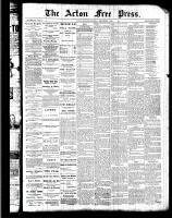 Acton Free Press (Acton, ON), September 1, 1887