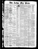 Acton Free Press (Acton, ON), October 27, 1887