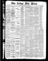 Acton Free Press (Acton, ON), November 10, 1887