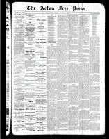 Acton Free Press (Acton, ON), December 29, 1887