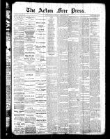 Acton Free Press (Acton, ON), February 9, 1888