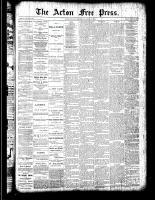 Acton Free Press (Acton, ON), March 22, 1888