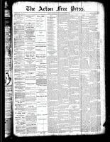 Acton Free Press (Acton, ON), October 11, 1888