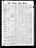 Acton Free Press (Acton, ON), August 8, 1889