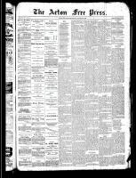 Acton Free Press (Acton, ON), August 15, 1889
